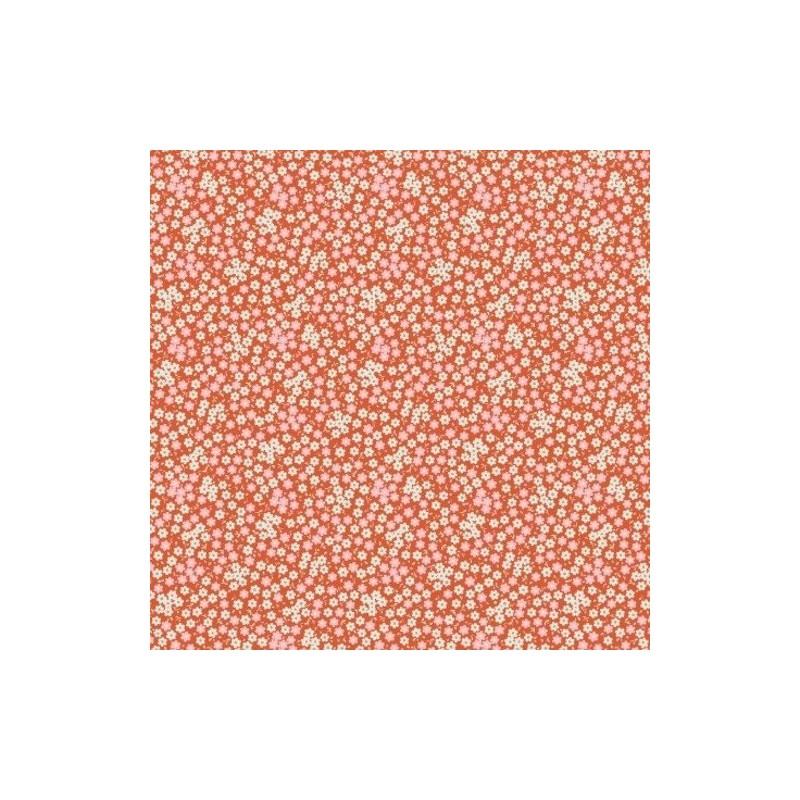 Tess Ginger - coupon 50x55cm - tissu Tilda