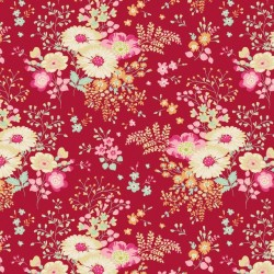 Lucille Red - coupon 50x55cm - tissu Tilda