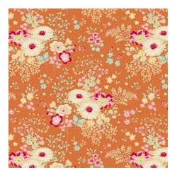 Lucille Ginger - coupon 50x55cm - tissu Tilda