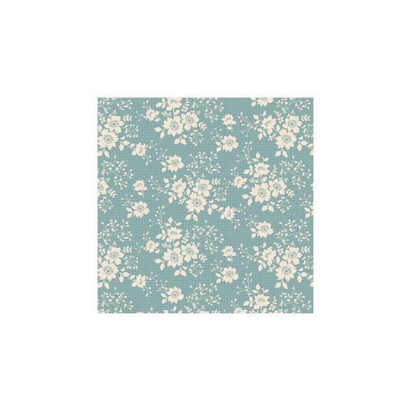 Libby Teal - coupon 50x55cm - tissu Tilda