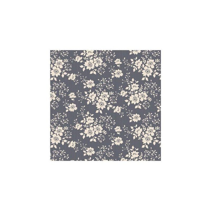 Libby Dark Slate - coupon 50x110cm - tissu Tilda