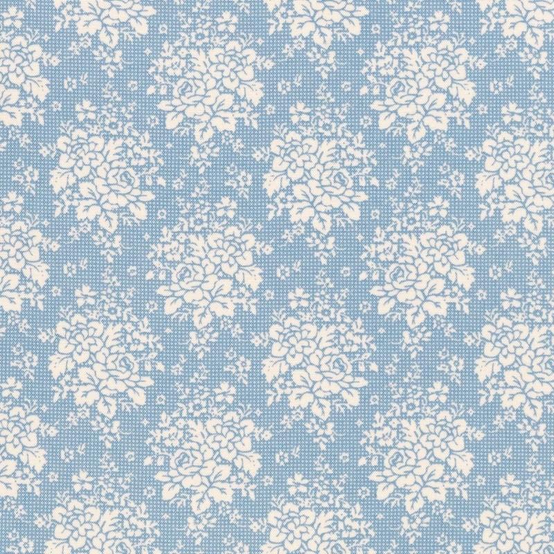 Summer Picnic Blue - coupon 50x110cm - tissu Tilda