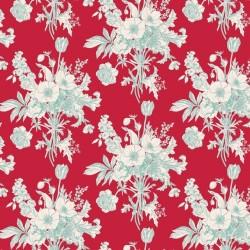 Botanical Red - coupon 50x110cm - tissu Tilda
