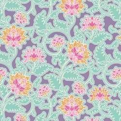 Suraj Lilac - coupon 50x110cm - tissu Tilda