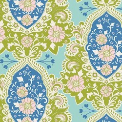 Charlotte Blue - coupon 50x110cm - tissu Tilda