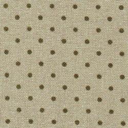 Toile Murano Zweigart 12,6fils/cm - largeur 140cm - lin à petits points taupe foncé