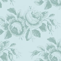 Mary Teal - coupon 50x110cm - tissu Tilda