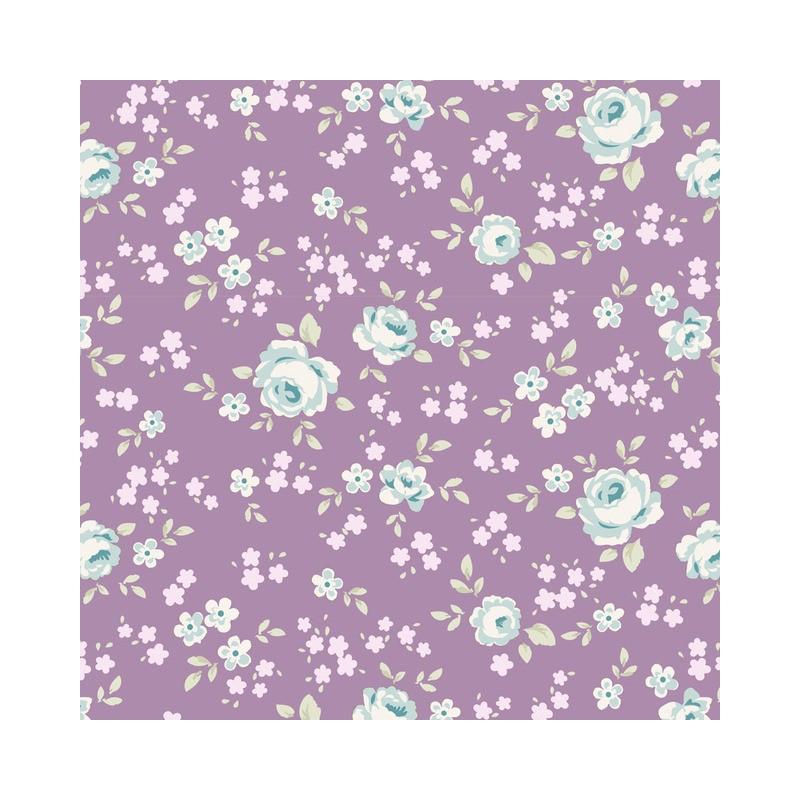 Eliza Mauve Lilac - coupon 50x55cm - tissu Tilda