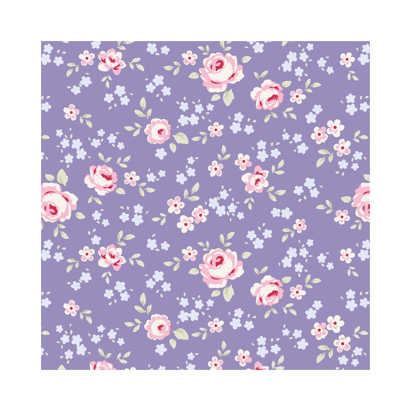 Eliza Blue - coupon 50x55cm - tissu Tilda
