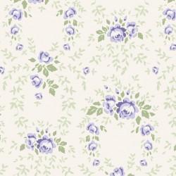 Lucy Blue Rose - coupon 50x55cm - tissu Tilda