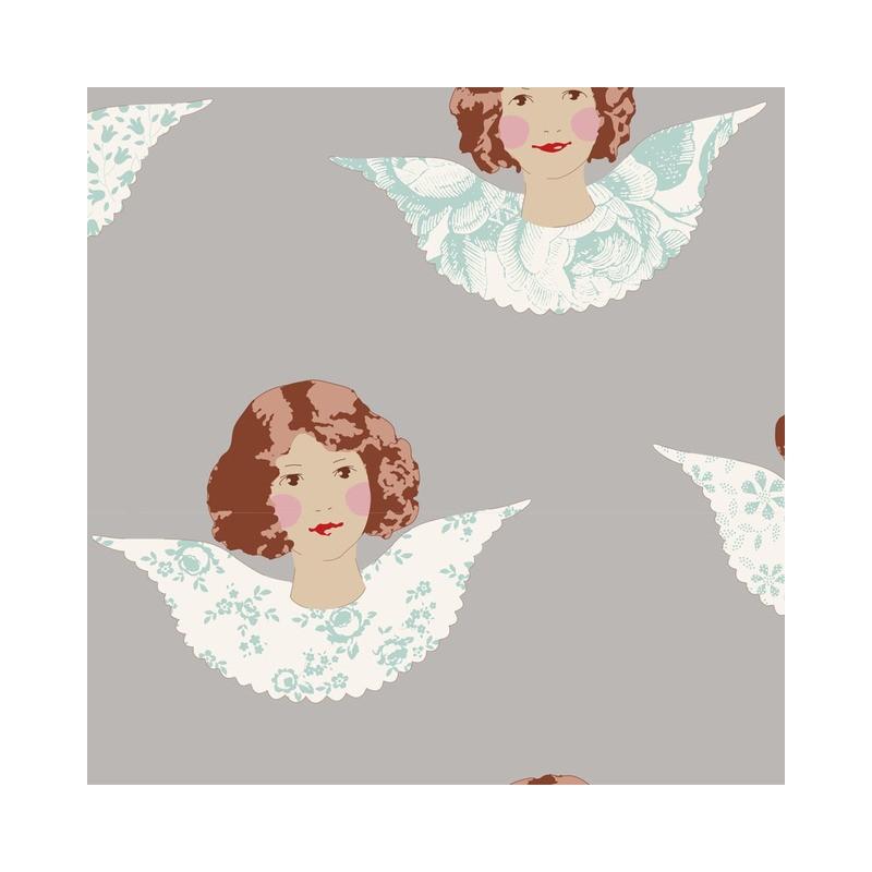 Angel Scraps Grey - coupon 50x55cm - tissu Tilda