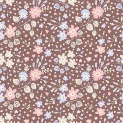 Flower Confetti Nutmeg - coupon 50x55cm - tissu Tilda