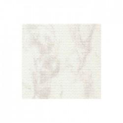 Toile Aïda Zweigart 7fils/cm - 50x55cm - blanc marbré gris