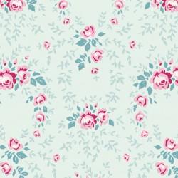 Lucy Teal Mist - coupon 50x110cm - tissu Tilda