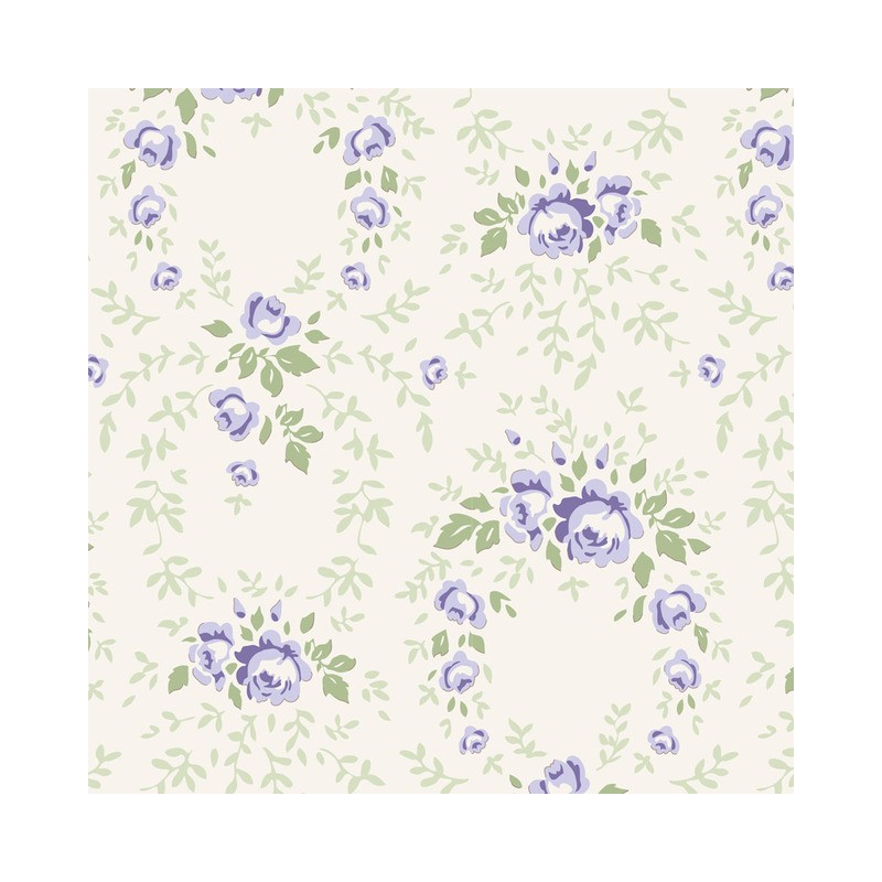Lucy Blue Rose - coupon 50x110cm - tissu Tilda