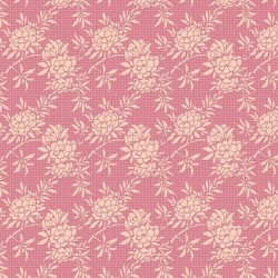 Flower Bush Pink - coupon 50x110cm - tissu Tilda