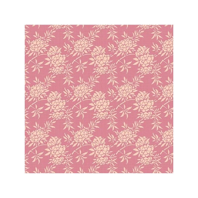 Flower Bush Pink - coupon 50x110cm - tissu Tilda