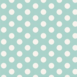 Medium Dots Teal - coupon 50x110cm - tissu Tilda