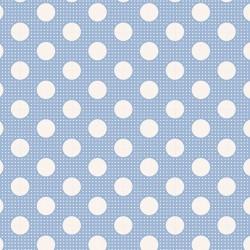 Medium Dots Blue - coupon 50x110cm - tissu Tilda