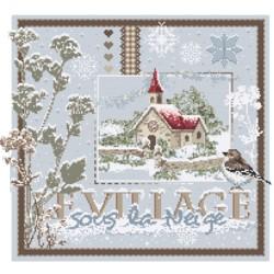 Le village sous la neige - Madame la fée