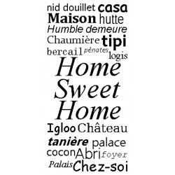 Grille broderie gratuite : Home Sweet Home