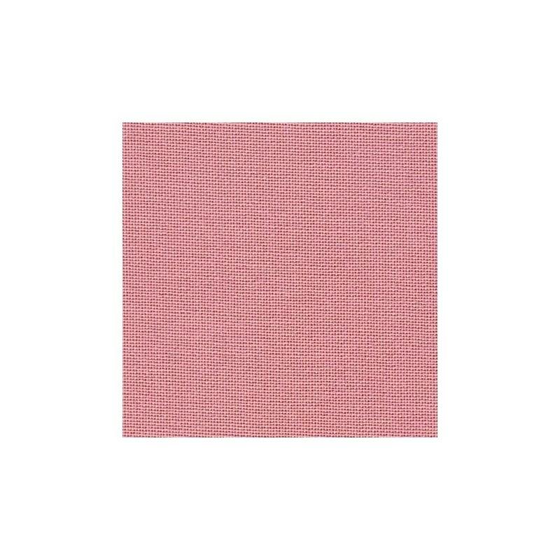 Toile Murano Zweigart 12,6fils/cm - largeur 140cm - vieux rose