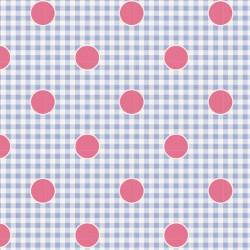 Gingdot Blue - coupon 50x55cm - tissu Tilda
