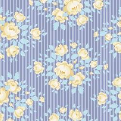 Marylou Blue - au mètre - laize 110cm - tissu Tilda