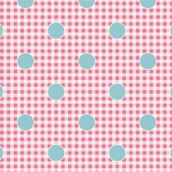 Gingdot Rose - coupon 50x55cm - tissu Tilda