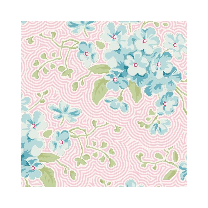 Primrose Pink - coupon 50x55cm - tissu Tilda