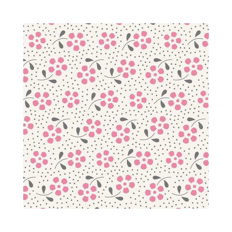 Meadow Pink - coupon 50x55cm - tissu Tilda