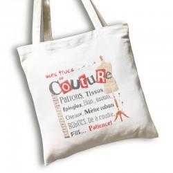 Sac de couture - Lilipoints - Semi-kit diagramme + sac Aïda 8pts/cm blanc
