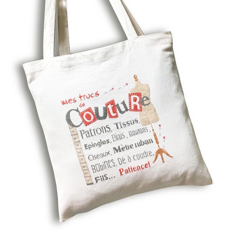 Sac de couture - Lilipoints - Pack complet sac aïda 8 pts/cm blanc