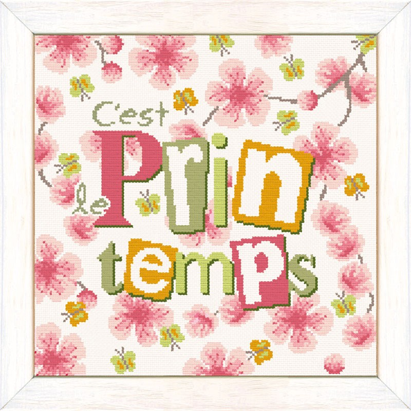 Le printemps  - Lilipoints - Semi-kit diagramme+toile