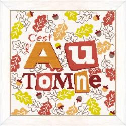 L'automne  - Lilipoints - Semi-kit diagramme+toile