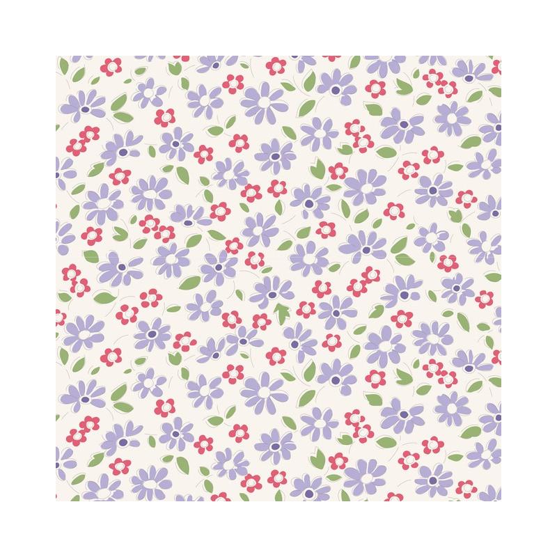 Lilit Blue - coupon 50x55cm - tissu Tilda