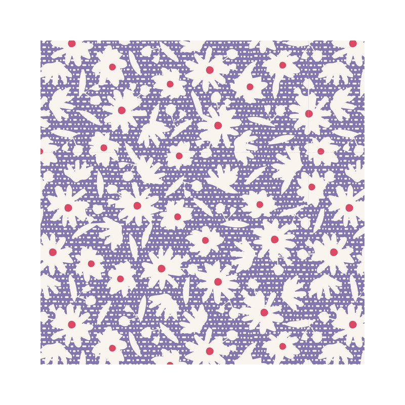 Paperflower Blue - coupon 50x55cm - tissu Tilda