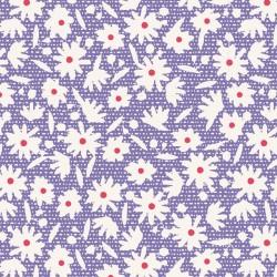 Paperflower Blue - au mètre - laize 110cm - tissu Tilda