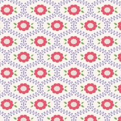 Elsie Blue - coupon 50x55cm - tissu Tilda