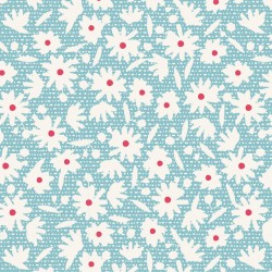 copy of Paperflower Blue - coupon 50x110cm - tissu Tilda