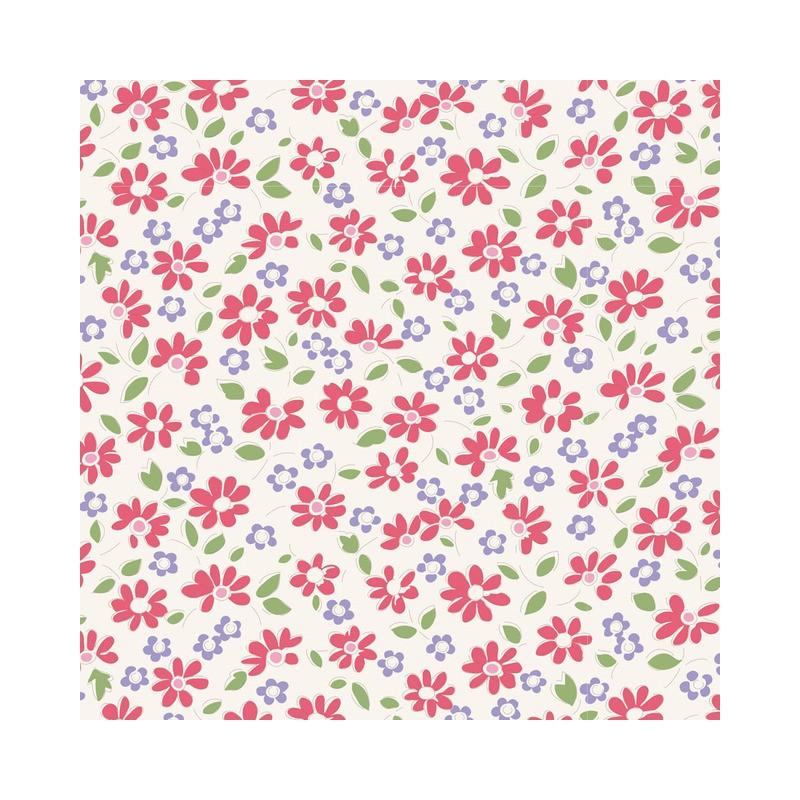 Lilit Red - coupon 50x110cm - tissu Tilda
