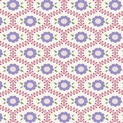Elsie Red - coupon 50x110cm - tissu Tilda