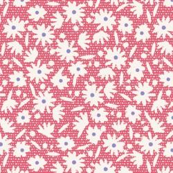 Paperflower Red - coupon 50x55cm - tissu Tilda