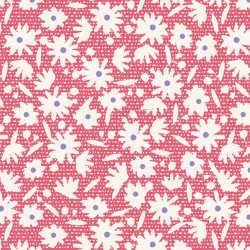 Paperflower Red - coupon 50x110cm - tissu Tilda