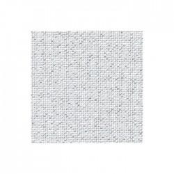 Toile Aïda Zweigart 7pts/cm - largeur 110cm - blanc pailleté argenté