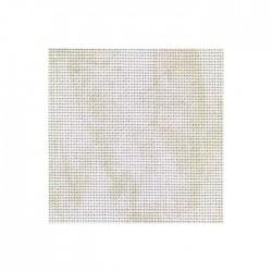 Toile Aïda Zweigart 7pts/cm - largeur 110cm - blanc marbré beige