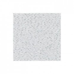 Aïda Zweigart 7,0pts/cm - 35x45cm - blanc pailleté argenté