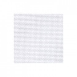 Toile Aïda Zweigart 7fils/cm - 50x55cm - gris blanchi