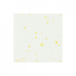 Aïda Zweigart 7pts/cm - 50x55cm - blanc à tâches jaunes