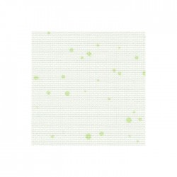 Aïda Zweigart 7,0pts/cm - 50x55cm - blanc à tâches vertes